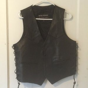 Wilson's Leather Vest with Bald Eagle Imprint